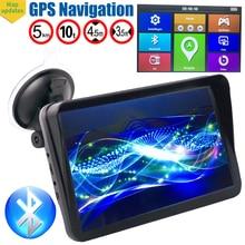 Gps навигация 9 дюймов gps навигация 256 Мб Туристический навигатор FM Bluetooth Туристический навигатор голосовая навигация автомобильный новейший ЕС