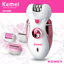 Kemei Multi-function Rechargeable Electric Ladies Hair Removal Device Razor Beauty Care Tools for Women To Use KM-2530 цена и фото
