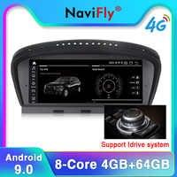 NaviFly Android9.0 4G RAM 64G ROM autoradio lecteur multimédia pour BMW série 5 E60 E61 E63 E64 E90 E91 E92 gps navigation