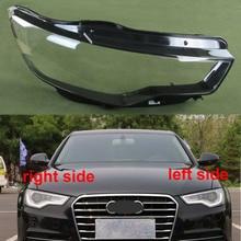 Cubierta de faro delantero para Audi A6L C7 2012 2013 2014, cubierta de faro delantero, cubierta de lámpara, faros transparentes