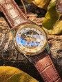 Aolihi мужские часы автоматические механические часы скелет светящиеся мужские наручные часы водонепроницаемые спортивные часы Relogio Masculino