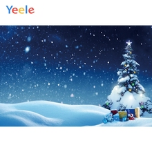 Yeele Christmas Backdrop Winter Snow Tree New Year Newborn Baby Birthday Party Custom Photography Background For Photo Studio