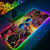 Mouse pad RGB Gaming Accessories Computer Large 900x400mm Graffiti Mousepad Gamer Rubber Carpet With Backlit Play CS GO Desk Mat