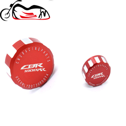 For HONDA CBR1000RR CBR 1000RR 2008-2018 Motorcycle CNC High quality Rear & Front Brake Fluid Reservoir Cap Cylinder cover