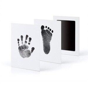 Baby Hand Foot drukuje noworodka produkty do chrztu Baby Wash Free Stamp Pad Ink nietoksyczny dotykowy tusz Pad DIY ramka na zdjęcia dla niemowląt