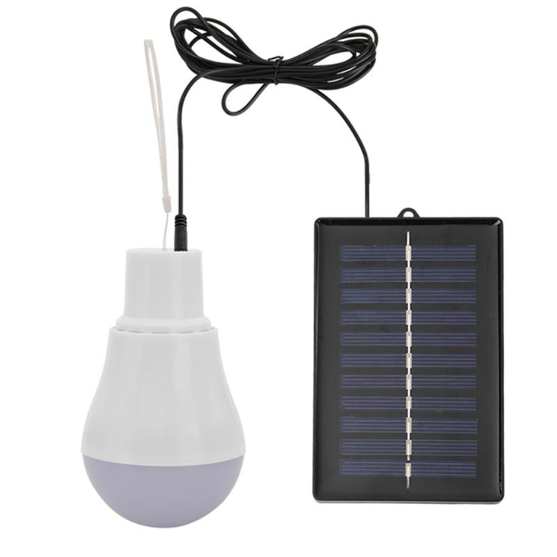 5V 15W 300LM Outdoor Solar Lamp USB Rechargable Led Bulb Portable Solar Power Panel Outdoor Lighting Camping Tent Solar Lamp