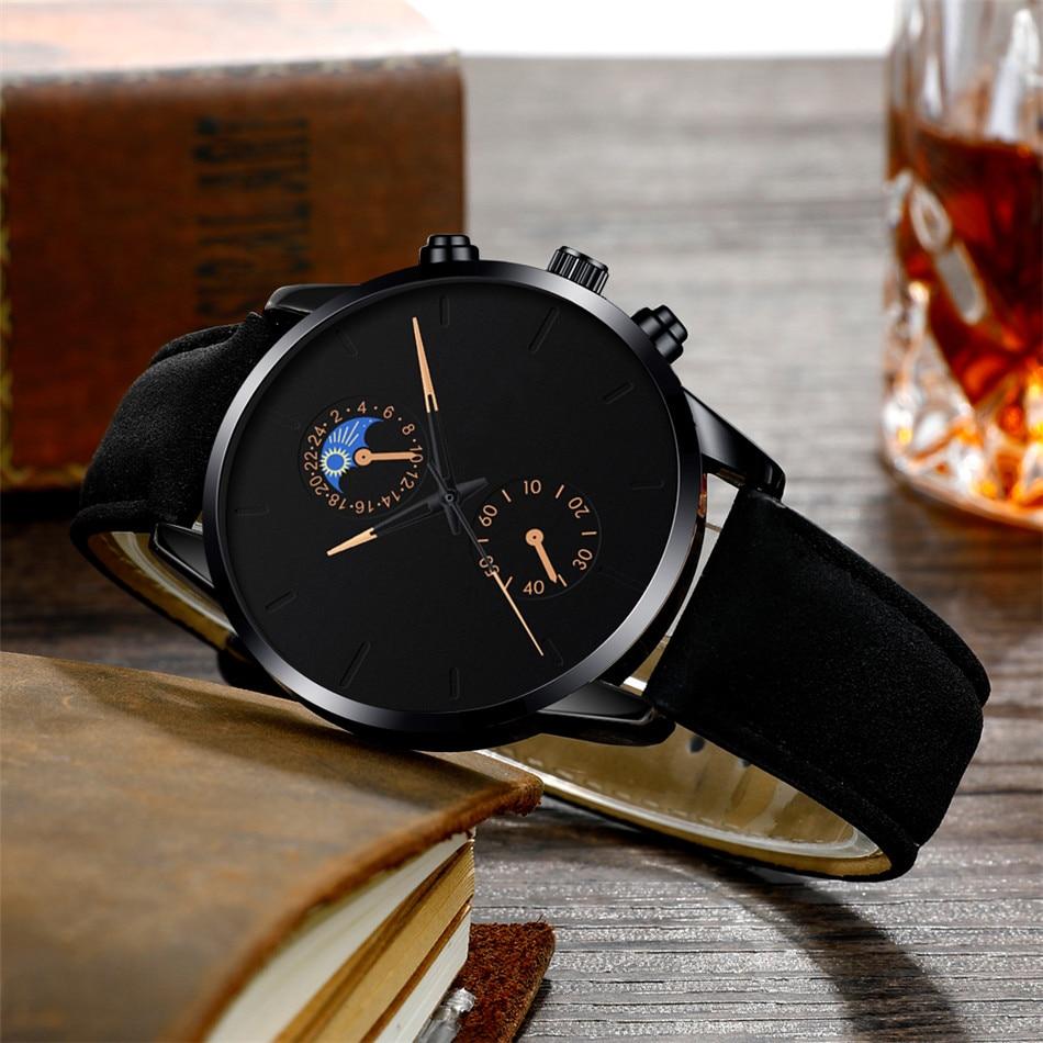 H41e89c5073314ef39325cddfe21f8c33y Minimalist Fashion Men's Watch Luxury Business Casual Black leather Watches Classic Male Wrist Watch Analog Clock Herren Uhren
