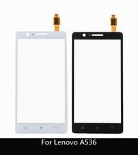 """5.0 """"لينوفو A536 لوحة اللمس الأصلي اللمس محول الأرقام الزجاج الأمامي الاستشعار لينوفو 536 لمس + 3m ملصقا"""
