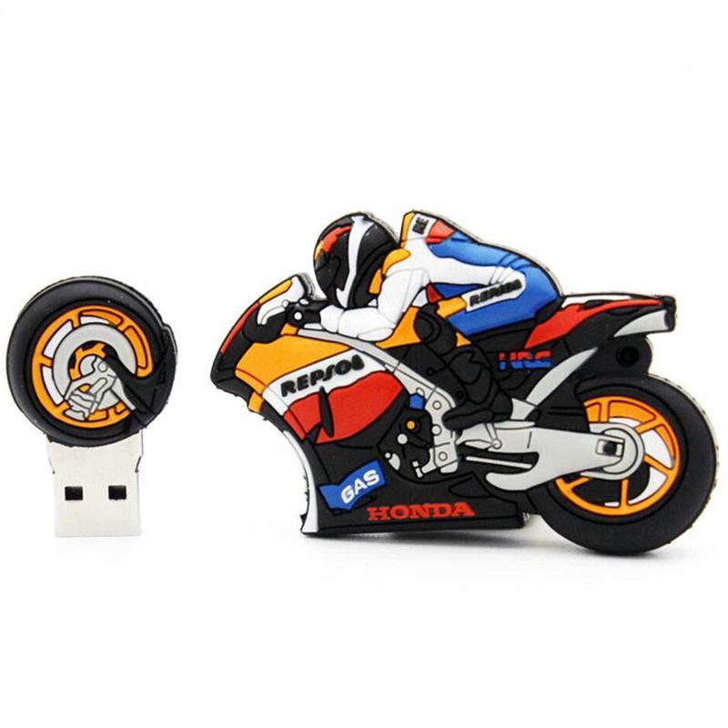 New Pendrive Motorcycle Usb Flash Drive 128GB 64GB Cartoon High Quality Memory Stick Pen Drive 32gb Usb Stick Hot Sale Usb