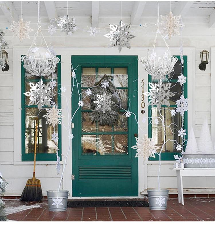 Snowflake Frozen Christmas Party Winter Decoration Navidad Reine Des Neiges Kerst Nieve Artificial Instant Snow Kraina Lodu Neve