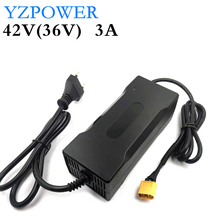 YZPOWER Lithium Battery Charger 42V 3A For 36V 3A Li ion Li poly Electric Scooter E bike Battery Pack with LED and  fan