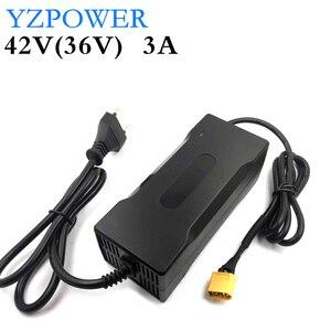 Image 1 - YZPOWER cargador de batería de litio de 42V 3A para patinete eléctrico li poly de 36V 3A, paquete de batería de bicicleta eléctrica con LED y ventilador