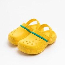 Family Slippers Kids Sandals Children Shoes Mother-Father-Kid Clog Hollow-Out Fliop Flp Garden Beach
