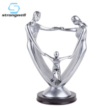 цены Strongwell Modern Family Model Decoration Figurines Abstract Figures Statue Resin Crafts Home Office Desk Decoration Ornament