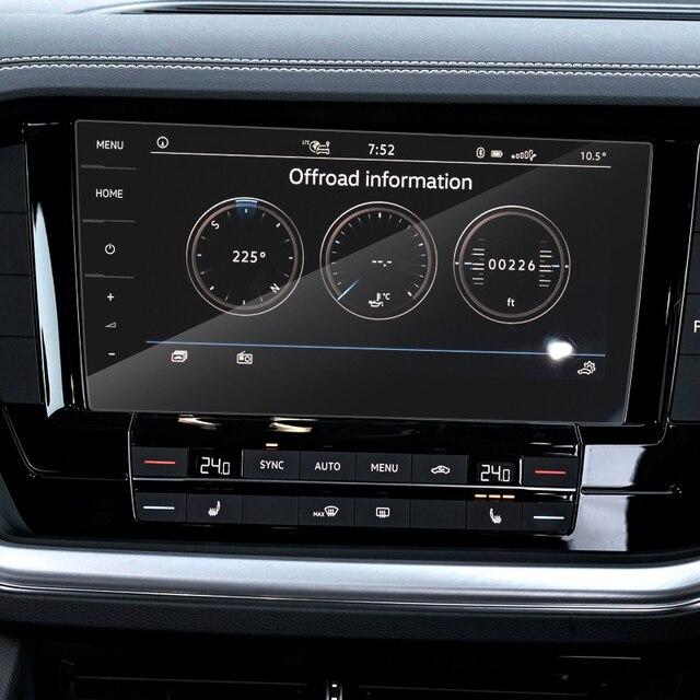 Car Styling For Volkswagen Touareg CR 2019-Present GPS Navigation Screen Film Dashboard Display Screen Film Interior Sticker 5