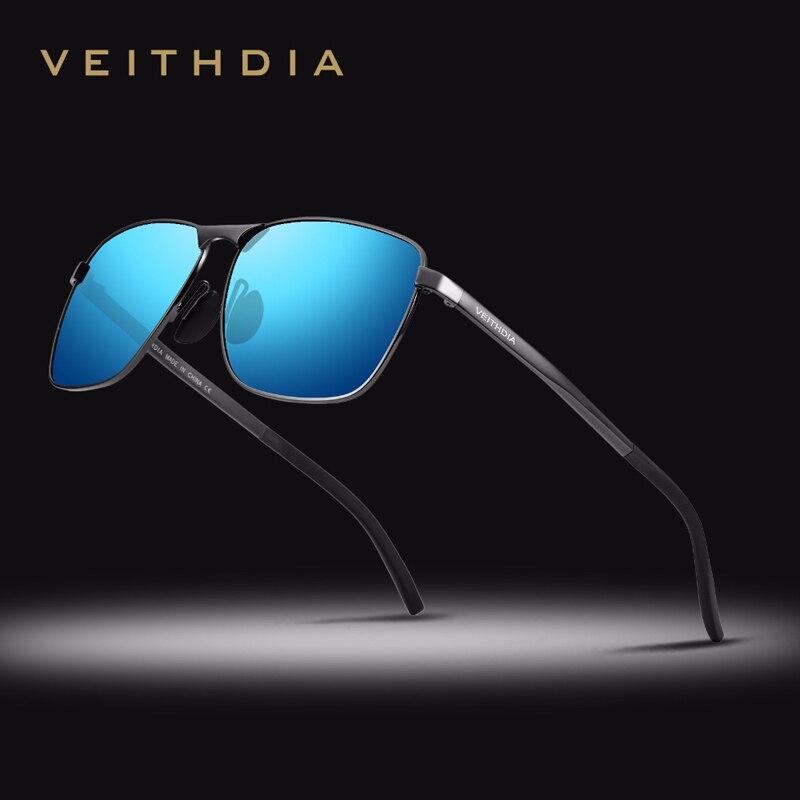 VEITHDIA Brand Retro Men's Square Sunglasses Polarized Lens Vintage Eyewear Accessories Sun Glasses For Men 2462