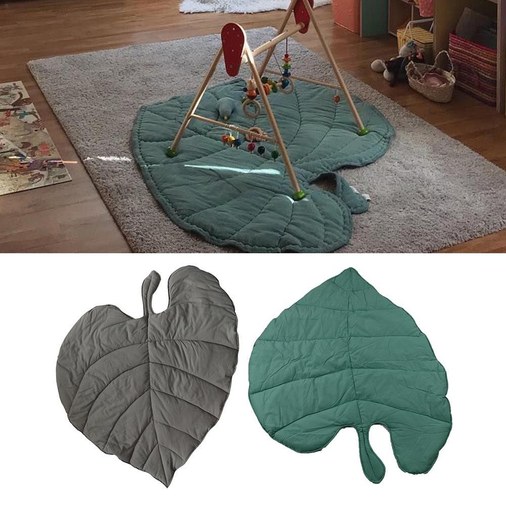 Creative Cotton Leaf Shape Baby Blanket Play Mat Kid Crawling Carpet Pure Cotton Mat Leaf-Shaped Mat Carpet
