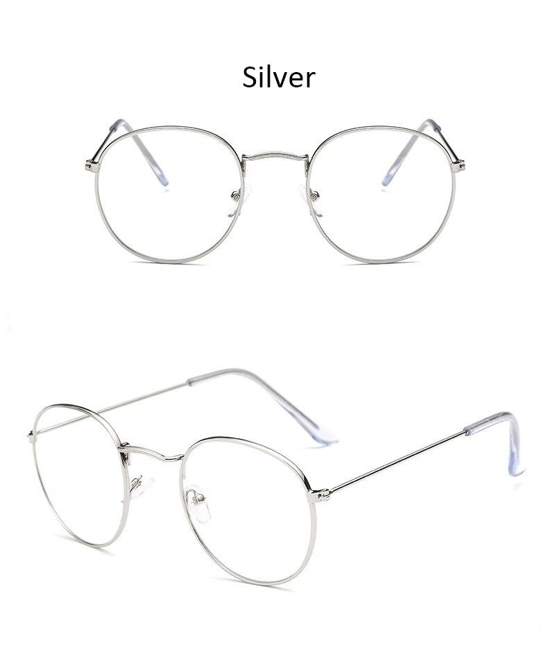 Fashion glasses frame Classic Round Women's Metal frame Optical Glasses Computer blue light Glasses oval eyeglasses frame Retro (14)