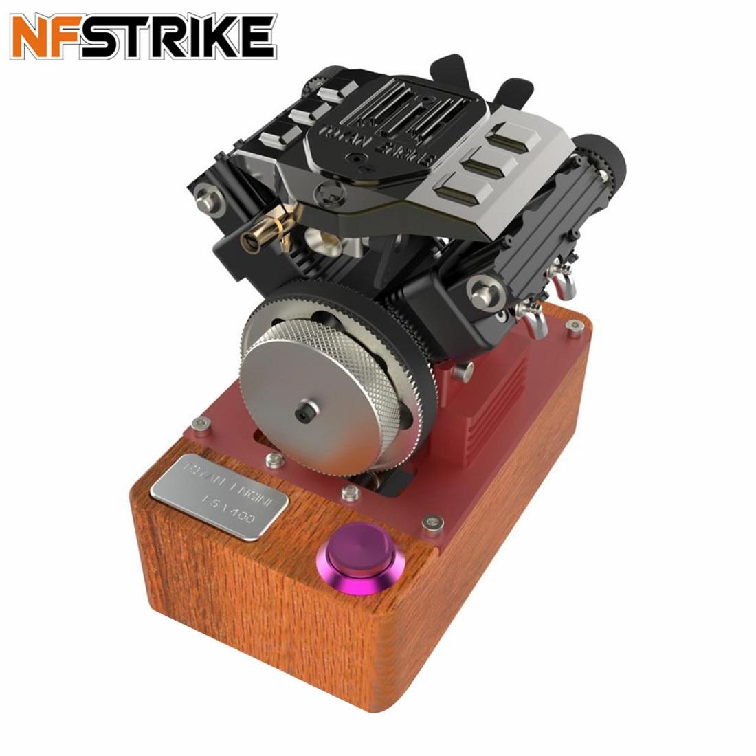 TOYAN V4 Engine Four Cylinder Four Stroke Methanol Engine FS-V400A Full Edition Engine  For 1:10 1:12 1:14 RC Car Ship Plane