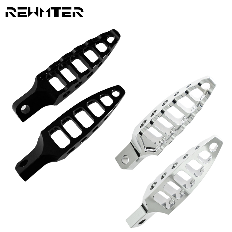 Motorcycle Footrests 45 Degrees Male-Mount CNC Footpeg Pedal Foot Pegs For Harley Sportster 883 1200 XL XR Touring Dyna Softail