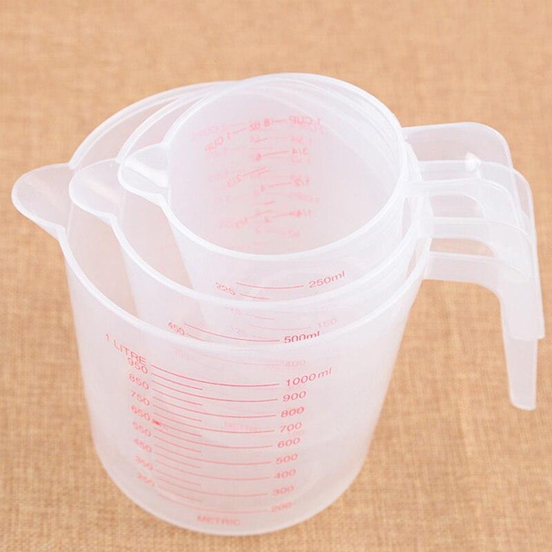 250/500/1000 мл Пластик мерный стакан из твердого английского фарфора носика поверхности кухонный инструмент, принадлежности качество чашка с г... title=