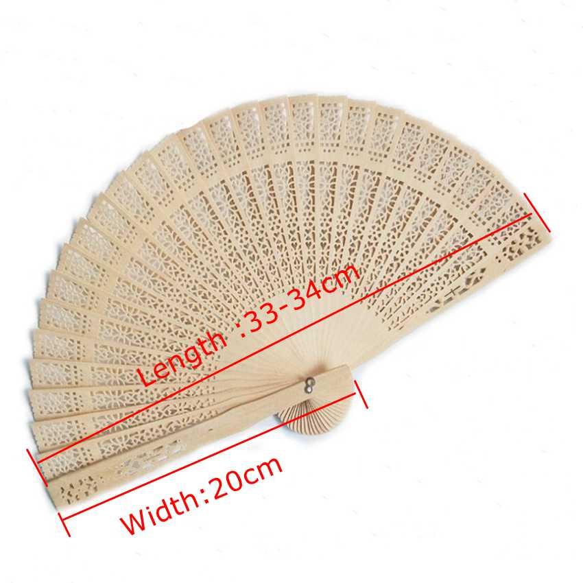 Ручной вентилятор деревянные, на выбор Свадебные сувениры и подарок для гостей сандаловое дерево ручные вентиляторы Свадебные украшения ручной складывающий вентилятор - 6