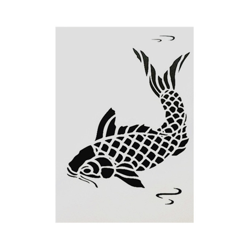 DIY Painting A4 Size Fish Design Layering Art Stencil Template For Wall Painting Decorative Embossing Paper Cards