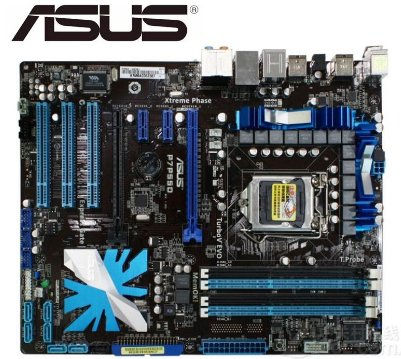 ASUS P7P55D original motherboard LGA 1156 DDR3 for i5 i7 cpu 16GB USB2.0 SATA2 P55 used Desktop motherboard boards sales|desktop motherboard|motherboard for asus|p55 motherboard - title=