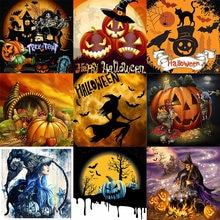 Amtmbs картина по номерам Хэллоуин Тыква рамки Раскраска домашний