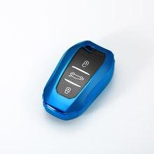 Мягкий ТПУ чехол для автомобильного ключа с дистанционным управлением, чехол с полным покрытием, Чехол-держатель для Peugeot 2008 3008 5008 для Citroen C4 ...