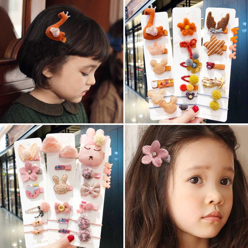 10/24 sztuk/zestaw nowe dzieci Cute Cartoon kwiat spinki Barrettes dziewczyny piękne kolory spinki do włosów dla dzieci dziecko słodkie akcesoria do włosów