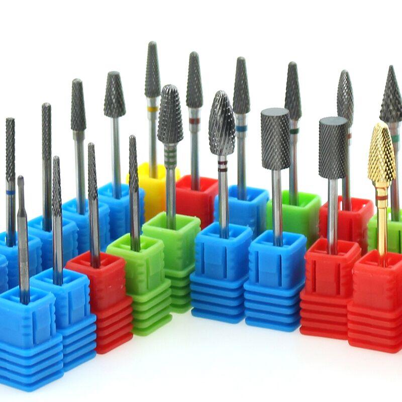 28 Types carbure perceuse à ongles électrique fraise rotative mèches pour manucure Machine cuticule propre pédicure Nail Art Accessoires