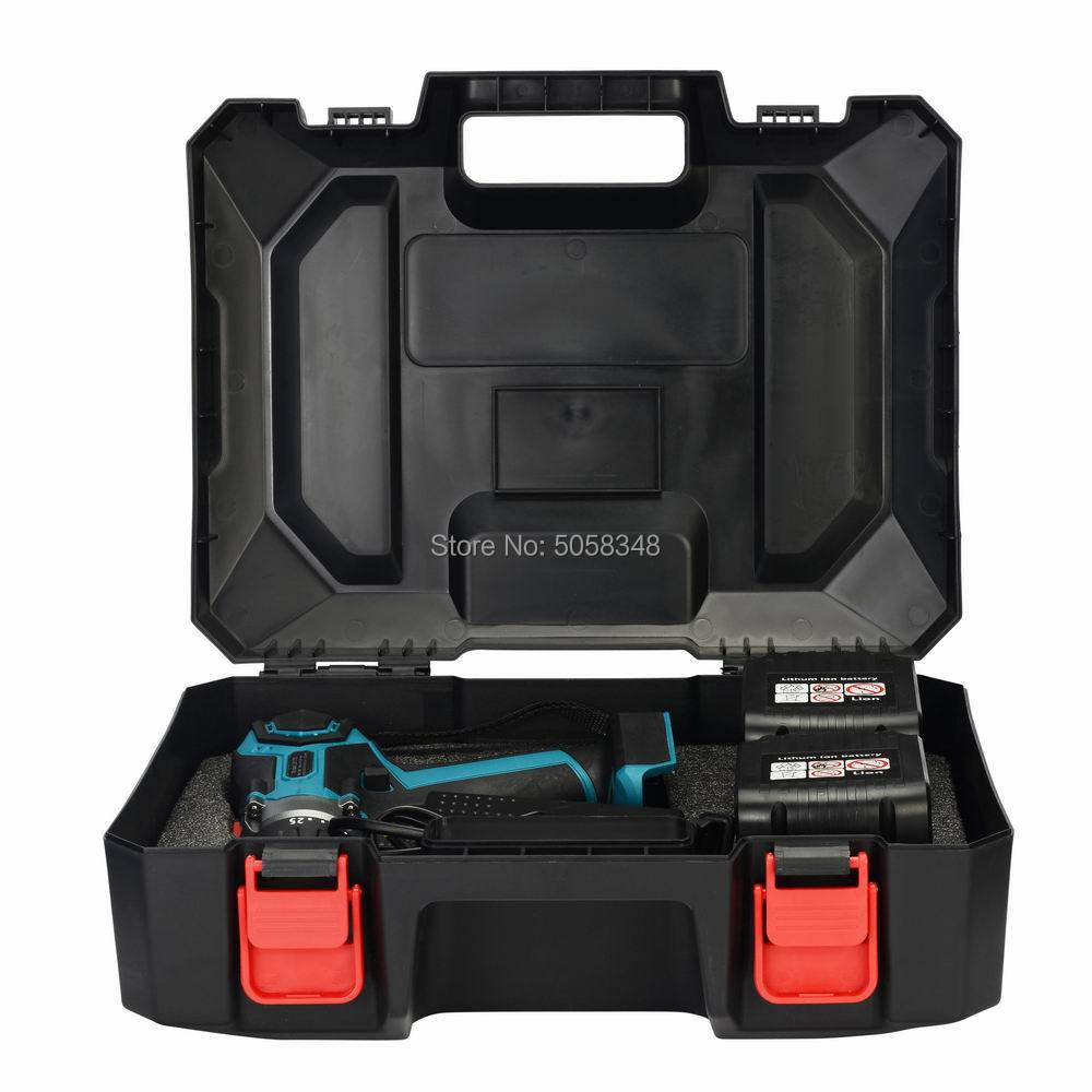 18V Cordless Brushless Impact Drill Hammer Drill Screw Driver Torque Drill With  Plastic Case & Two 4.0Ah Lithium Ion Batteries