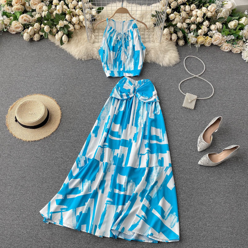 Two Piece Sets Woman Long Maxi Skirt 6