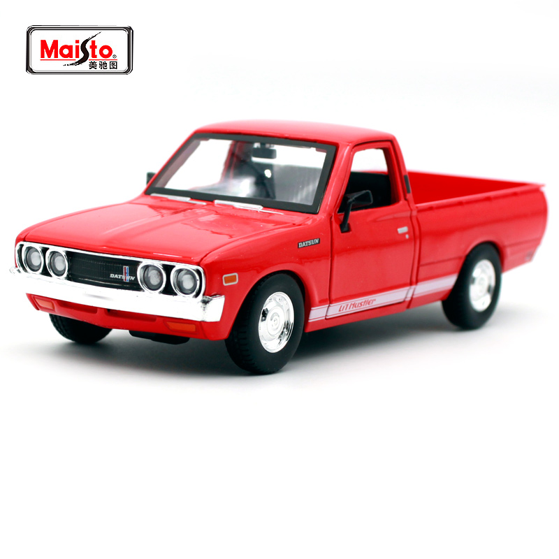 Maisto 1:24 Nissan 1973 Datsun 620 Pick-up Car Diecast For Nissan Open Car Cover Car Model  Motorcar Diecast For Men Collecting