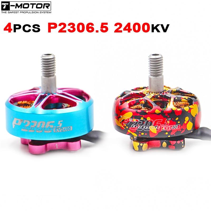 Venda T-MOTOR pacer p2306.5 2306.5 2400kv 4S lipo sem escova fpv motor t5143 t5146 adereços rc corrida zangão quadcopter multicopter