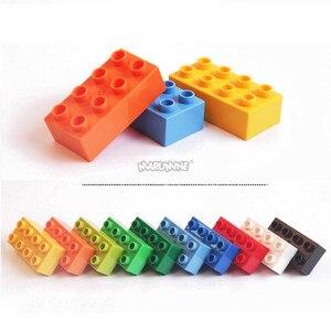 Image 3 - MARUMINE duże cegły 2x4 Duplo blok 30 sztuk/partia klasyczny zestaw edukacji Technic zabawki prezent dla dzieci DIY budynku cegły zestaw