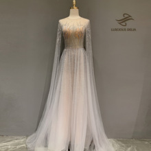 Luxury Long Sleeves Evening Dresses 2020 O Neck A Line Sexy Evening Gown Luscious Delia