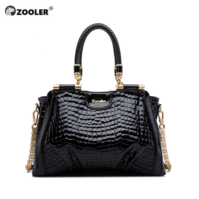 Pre-sell-ZOOLER Elegant Black Women Purse Lady Genuine Leather Shoulder Bags Soft Cowhide Chic Handbag Female Luxury Tote Big