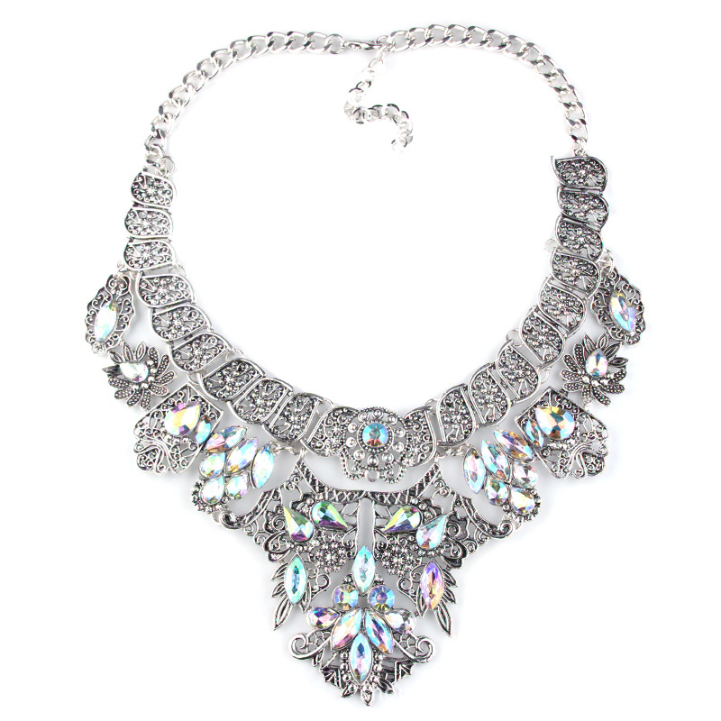 Bohemian Women Chocker Fashion Jewelry Collares Pendent Necklace Sets CLOVER JEWELLERY