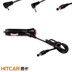 Samochód DC 12V 24V DC2.1 2.5MM 3.5mm wtyczka gniazdo zapalniczki Adapter z przełącznikiem 1.5/3.5 metrów kabel do E Dog GPS Radar|Zasilacz|Samochody i motocykle -