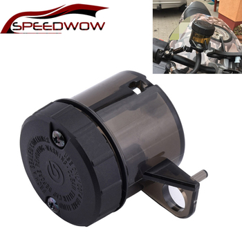 SPEEDWOW Motorcycle Oil Cup  Front Brake Clutch Fluid Bottle Reservoir Cruiser Chopper Tank Liquid