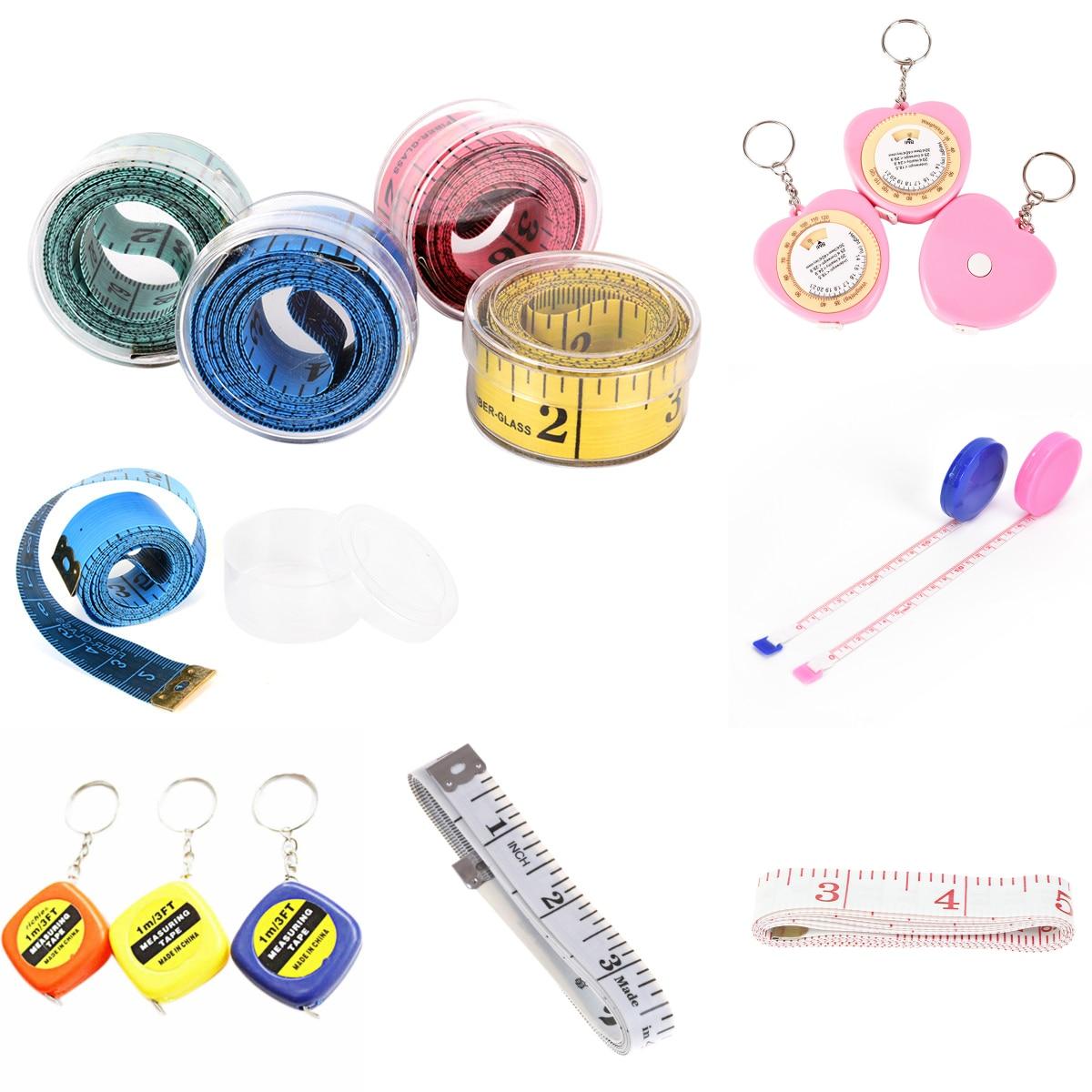 Body Measuring Ruler Sewing Tailor Tape Measure Soft Flat Sewing Ruler Meter Sewing Measuring Tape Random Color