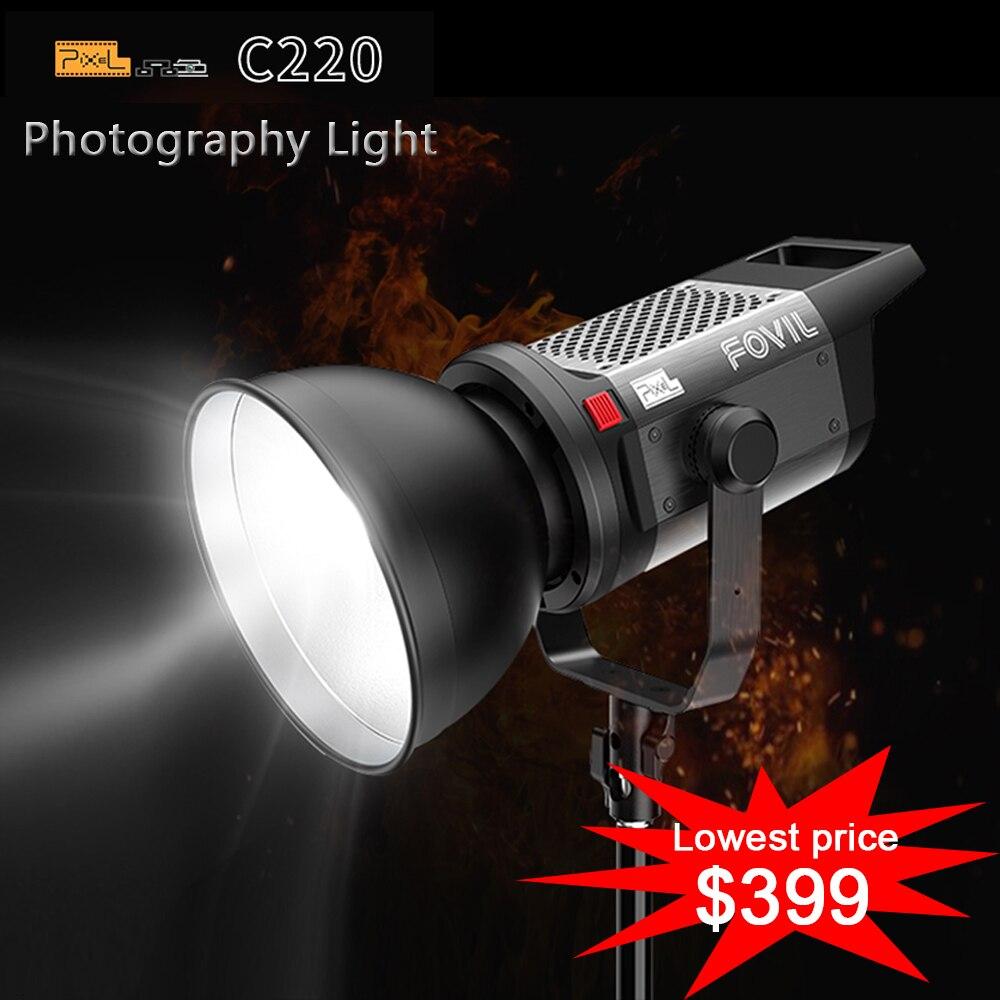 DHL gratuit Pixel LED lumière vidéo C220 220W 5600K Studio remplissage lumière lampe pour Studio lumière YouTube vidéo tir + télécommande