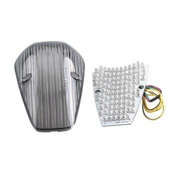LED Brake Tail Light Integrated Turn Signals For Honda VTX1300 VTX1800 2002-2009 03 04 05 06 07 08 Smoke