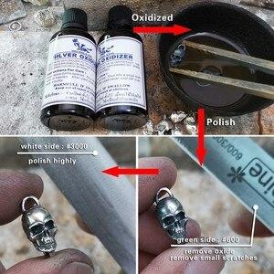 Image 4 - LINSION 925 Sterling Silver Details Skulls Chain Mens Biker Rock Punk Bracelet TA169
