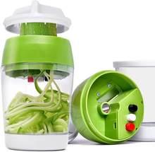 El Spiralizer sebze dilimleyici 5 in1 ayarlanabilir Spiral kesici ile konteyner kabak erişte spagetti Maker Spiral dilimleyici