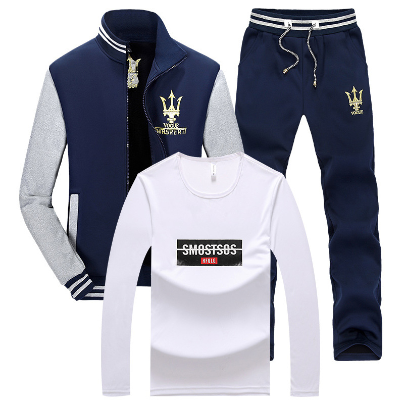 2019 Autumn & Winter Fashion New Style Men Hoodie Suit Korean-style Stand Collar Leisure Sports Suit