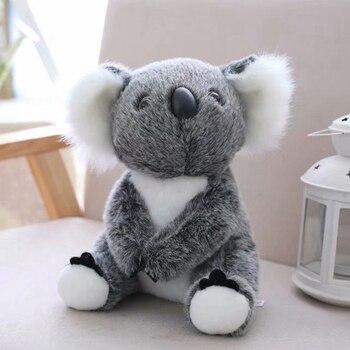13cm Cute Koala Bear Mini Plush Toys for Children Soft Stuffed Animals Plush Dolls Kids Birthday Party Christmas Gift for Girl - 13cm, Gray