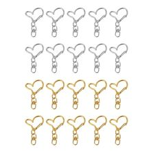 10Pcs DIY Metal Heart Keychain Swivel Lobster Clasp Snap Hook Jewelry Findings цена